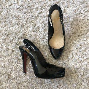 Christian Louboutin Womens Heels Black Patent